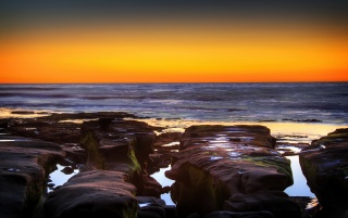 La Jolla Cove Sunset wallpapers and stock photos
