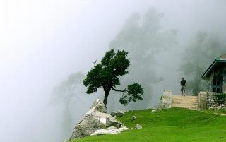 Cloudy Triund wallpapers and stock photos