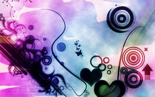 Hearts for abstract wallpapers and stock photos