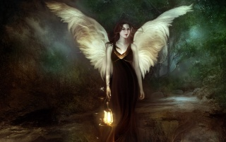 Angel in Dark wallpapers and stock photos