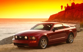 Red Mustang wallpapers and stock photos