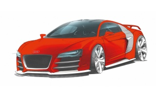 Audi R8 Le Mans wallpapers and stock photos