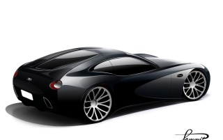 Bugatti 2008 rear wallpapers and stock photos