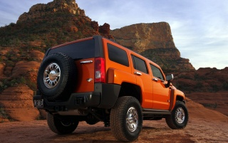 Hummer back angle wallpapers and stock photos