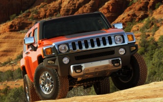 Hummer Vorderansicht wallpapers and stock photos
