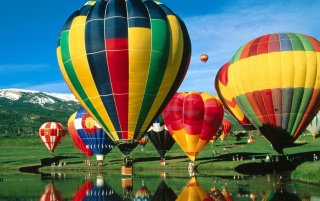 Travel balloons wallpapers and stock photos