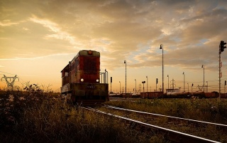 Deserted train yard wallpapers and stock photos