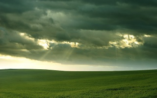 Clouds above field wallpapers and stock photos