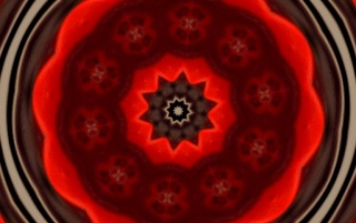 Kaleido Red Ceiling wallpapers and stock photos