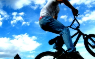 Jumping with bike wallpapers and stock photos