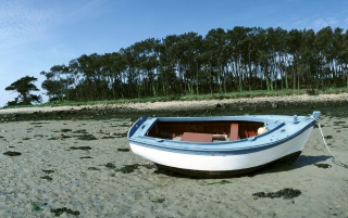 Boat on sand wallpapers and stock photos