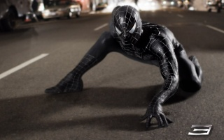 Spiderman on street wallpapers and stock photos