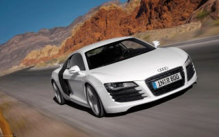 Audi R8 in mountains wallpapers and stock photos