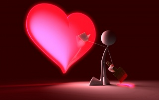 Touching the heart wallpapers and stock photos