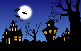 Halloween night wallpapers and stock photos