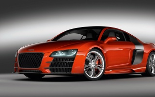 Red R8 front wallpapers and stock photos