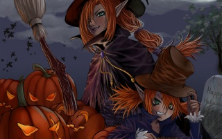 Halloween witches wallpapers and stock photos