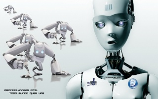 robots intel wallpapers and stock photos