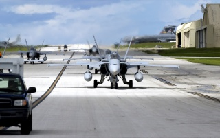 Random: F18s on runway