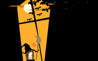Halloween witch wallpapers and stock photos