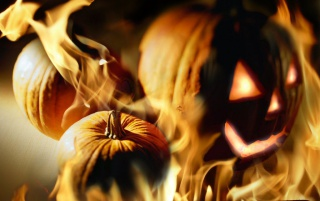 Pumpkin fire wallpapers and stock photos
