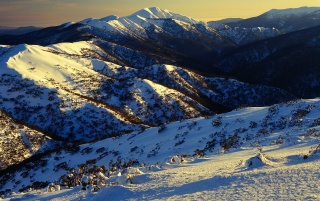 Feathertop sunrise wallpapers and stock photos