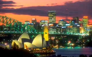 The lights of Sydney wallpapers and stock photos