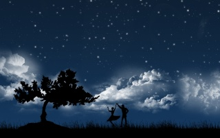 Dancing in moonlight wallpapers and stock photos