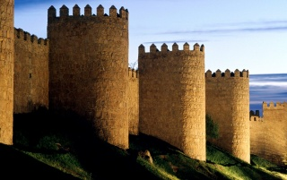avila castle wallpapers and stock photos