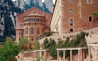 monastery of montserrat wallpapers and stock photos