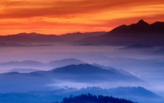 valley fog, guipuzcoa wallpapers and stock photos
