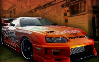 Toyota Supra front wallpapers and stock photos