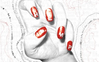 Hand with red nails wallpapers and stock photos
