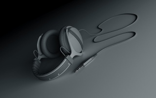 Headphones lying wallpapers and stock photos