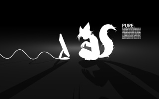 Fox at PC wallpapers and stock photos