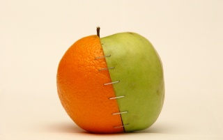 Orange and apple wallpapers and stock photos