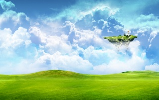 Floating land wallpapers and stock photos