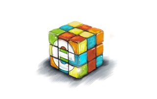 Rubik's Сube Wallpaper wallpapers and stock photos