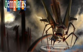 Science Fiction Insect Wallpap wallpapers and stock photos