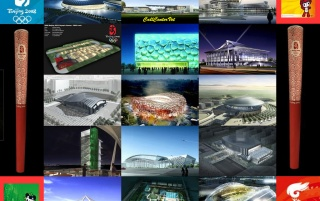 Olympic Venues 2008 wallpapers and stock photos