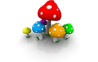 Colored mushrooms wallpapers and stock photos