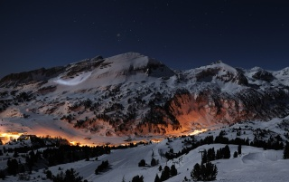Night in mountains wallpapers and stock photos