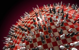 Round chess board wallpapers and stock photos