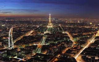 Paris night lights wallpapers and stock photos