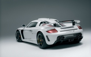 Rear white Gemballa wallpapers and stock photos