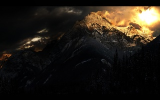 Mountain of light wallpapers and stock photos