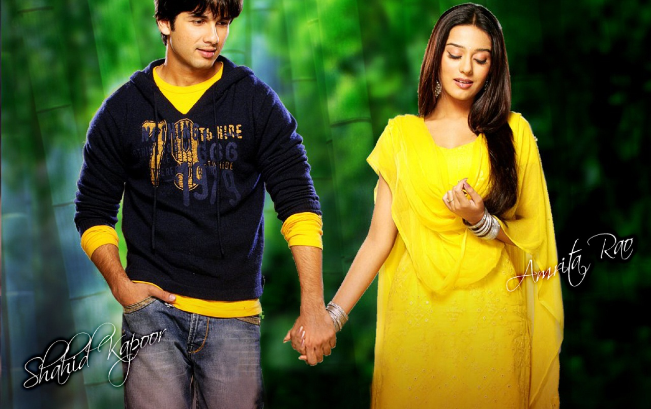 amrita & shahid wallpapers | amrita & shahid stock photos