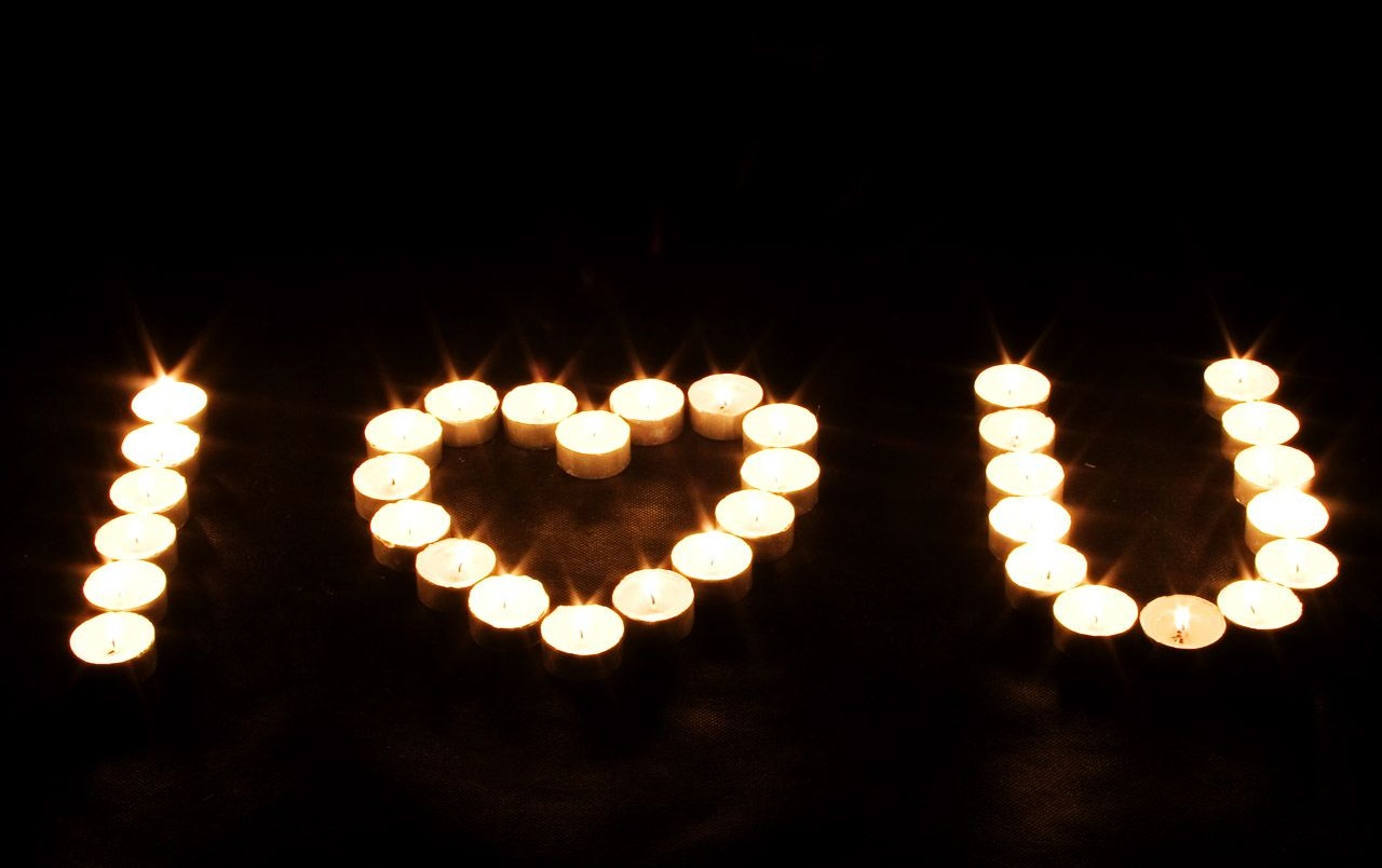 Candle love sign wallpapers