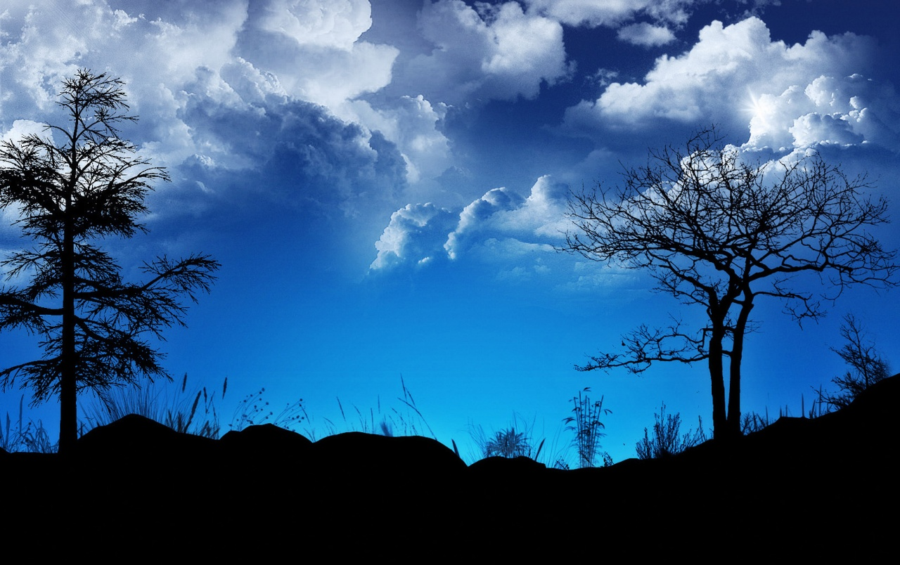 Blue contrast sky wallpapers