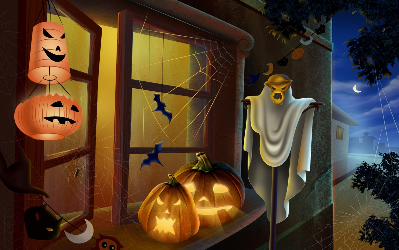 Pumpkins on window wallpapers
